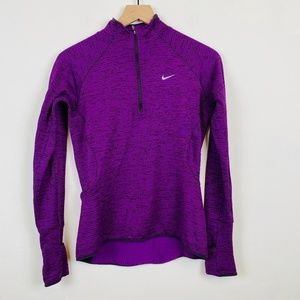 Nike Running Dri Fit 1/2 Zip Textured Pullover